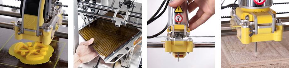 3D-Drucker + CNC-Fräse