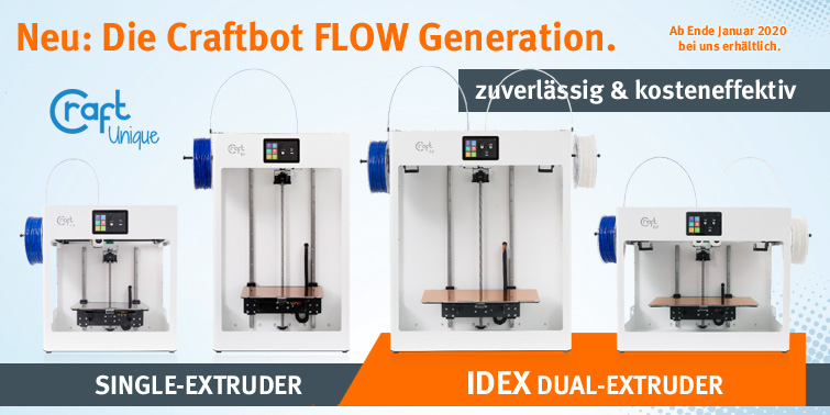 idex craftbot flow 3d drucker